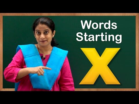 Learn Words Starting with X | Flash Cards – Words Starting With Letter x | Toddler Words With X