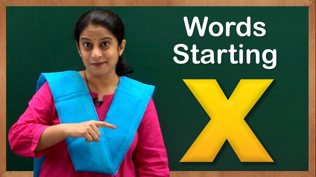 Learn Words Starting With X Flash Cards Words Starting With