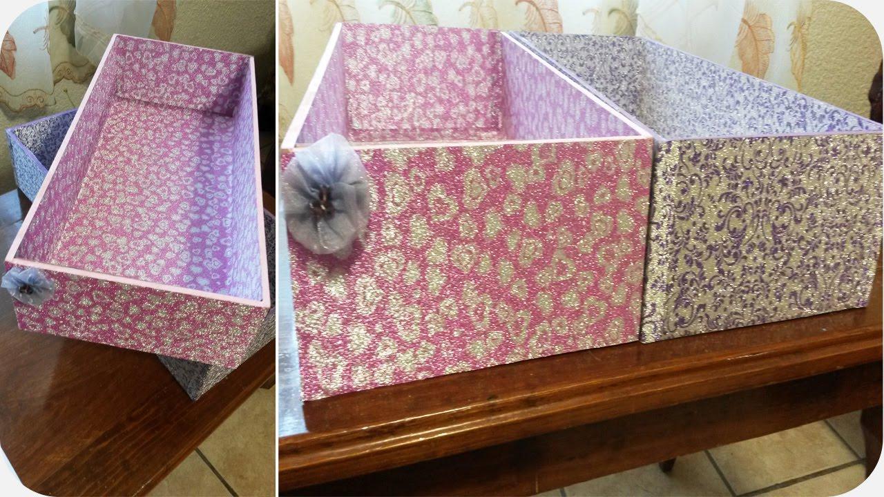 Diy cajas para organizar t cuarto youtube - Cajas de carton decoradas baratas ...
