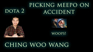 Dota 2 Griefing - Picking Meepo on accident