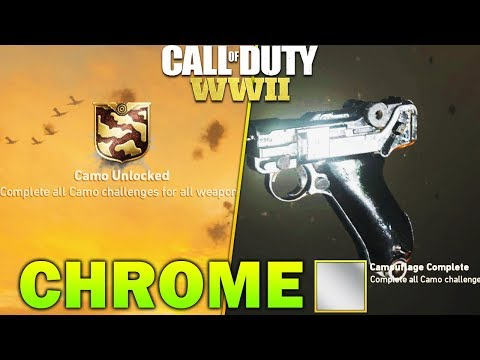 World's First CHROME CAMO Unlocked In COD WW2 - All Chrome Camo Weapons COD WW2