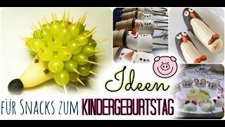 SNACK IDEEN für Kindergeburtstage | Emils 4. Geburtstag | Familienvlog #27