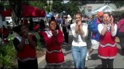 Raider Cheerleaders at the Alachua Harvest Festival