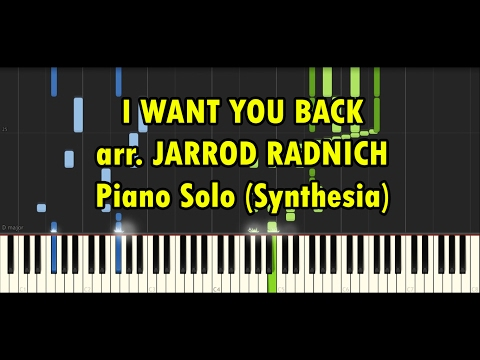 [Synthesia] I Want You Back arr. by Jarrod Radnich Virtuosic Piano Solo