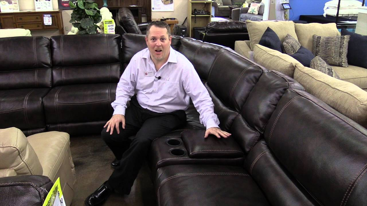 Attractive Sanford Sectional, Leather Furniture, Easy To Clean, Hudsonu0027s Furniture In  Orlando Area   YouTube