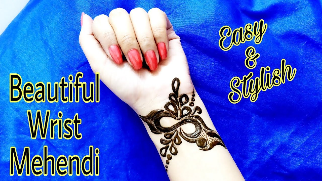 s alphabet wrist mehendi design easy and latest stylish bracelet