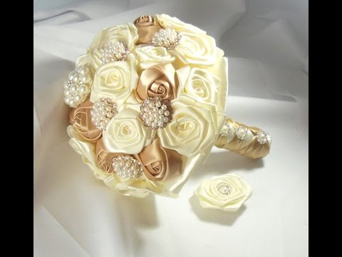 create your own wedding bouquet 1 diy bridal brooch bouquet fabric flowers no wires easy 3181