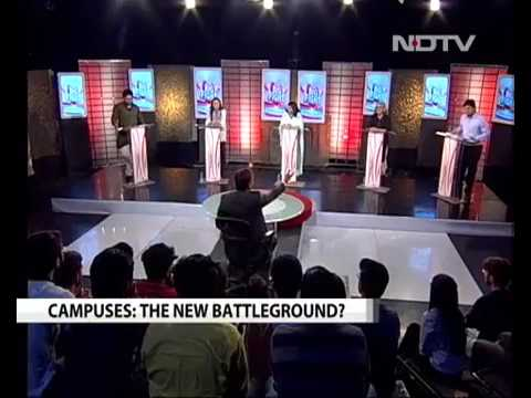 ABVP Guy Gives Tight Slap to NDTV