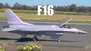 Large Scale RC Jet Turbine F16 Airplane