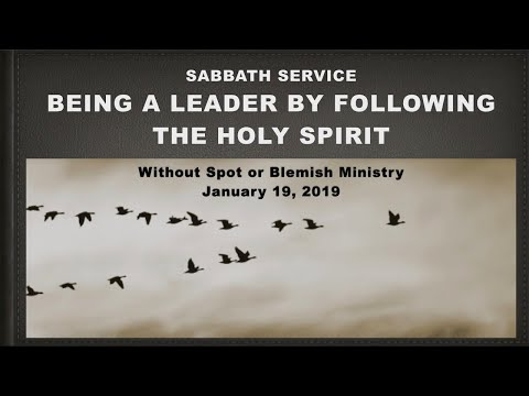 Being a Leader by Following the Holy Spirit