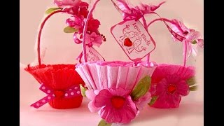 DIY Basket for sweets. Handmade Easter gift basket/box. Ideas for Gift wrappping.