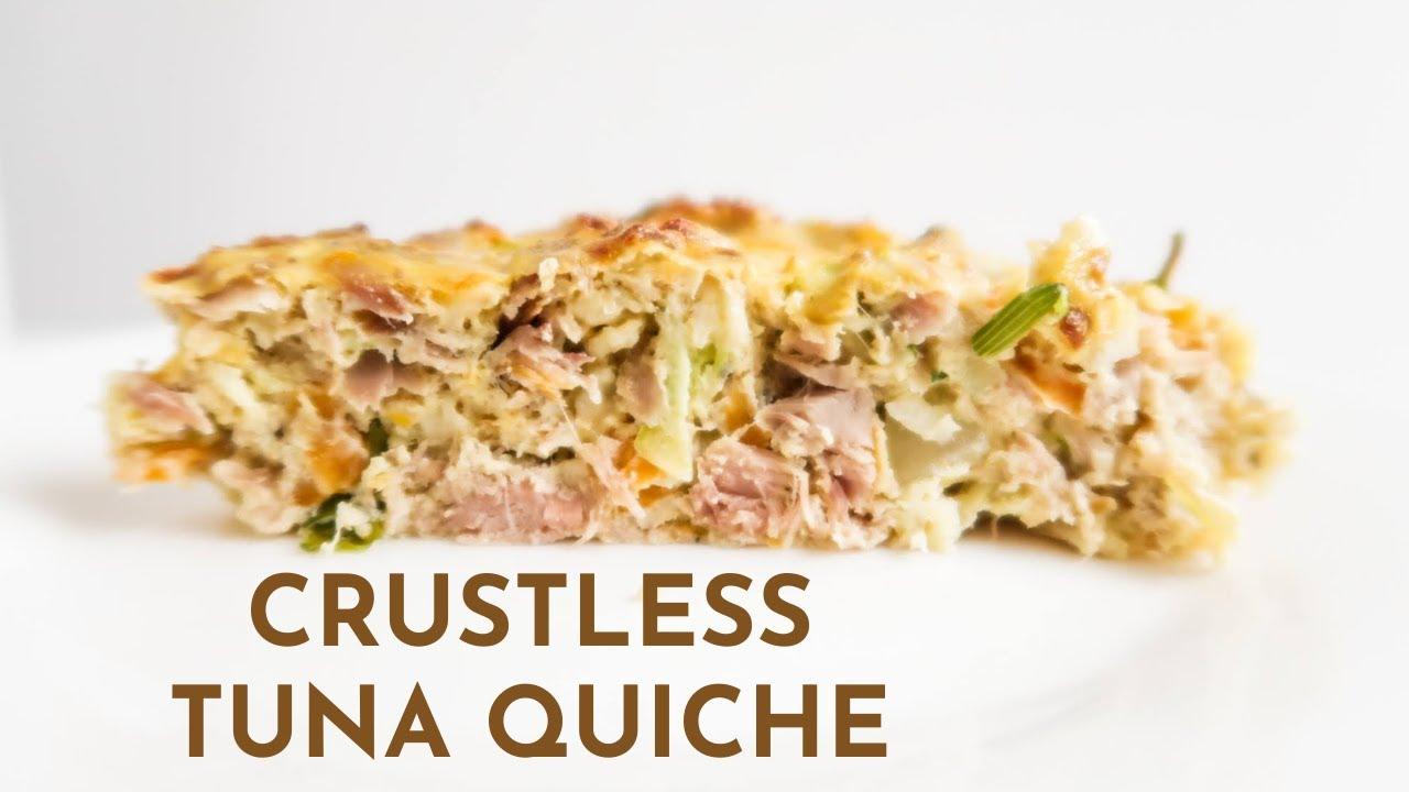 Crustless Tuna Quiche Recipe