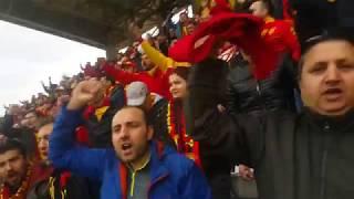 Osmanlıspor maçında tüm stad haydi bastır şanlı Göztepe diye yıkılıyor