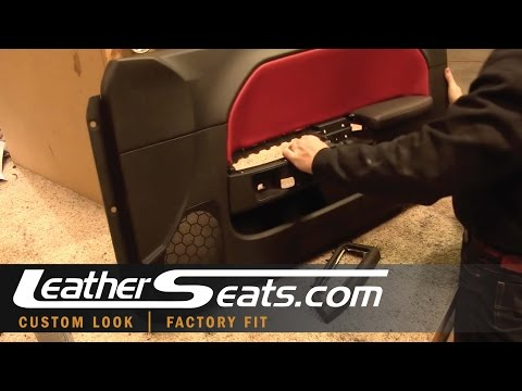 Dodge Challenger Custom Leather Door Armrest Cover How To Installation Video - LeatherSeats.com