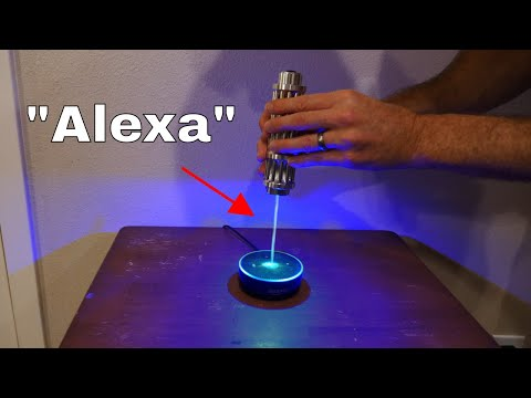 Hacking Into An Amazon Echo Using Laser Light To