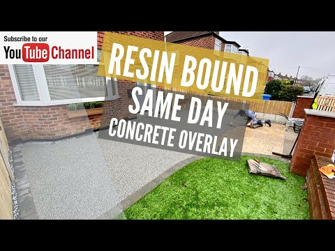 Resin Driveway Overlay On A Concrete Driveway In Silver Grey - Time Lapse