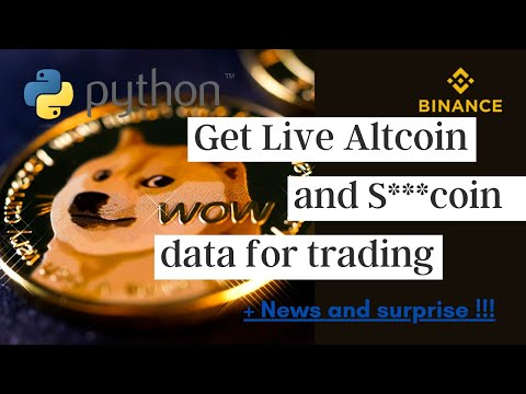 Tutorial + ANNOUNCEMENT : Python For Trading - Get LIVE Crypto Data With Binance API