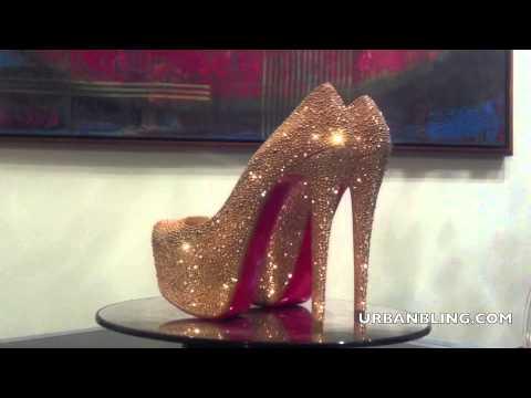 276cb98ba9a0 Urban Bling Christian Louboutin Rose Gold Daffodile Strass - YouTube