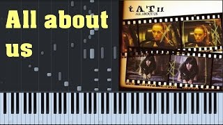 [EASY] How to Play: All about us - T.A.T.U. - Sythesia Piano Cover