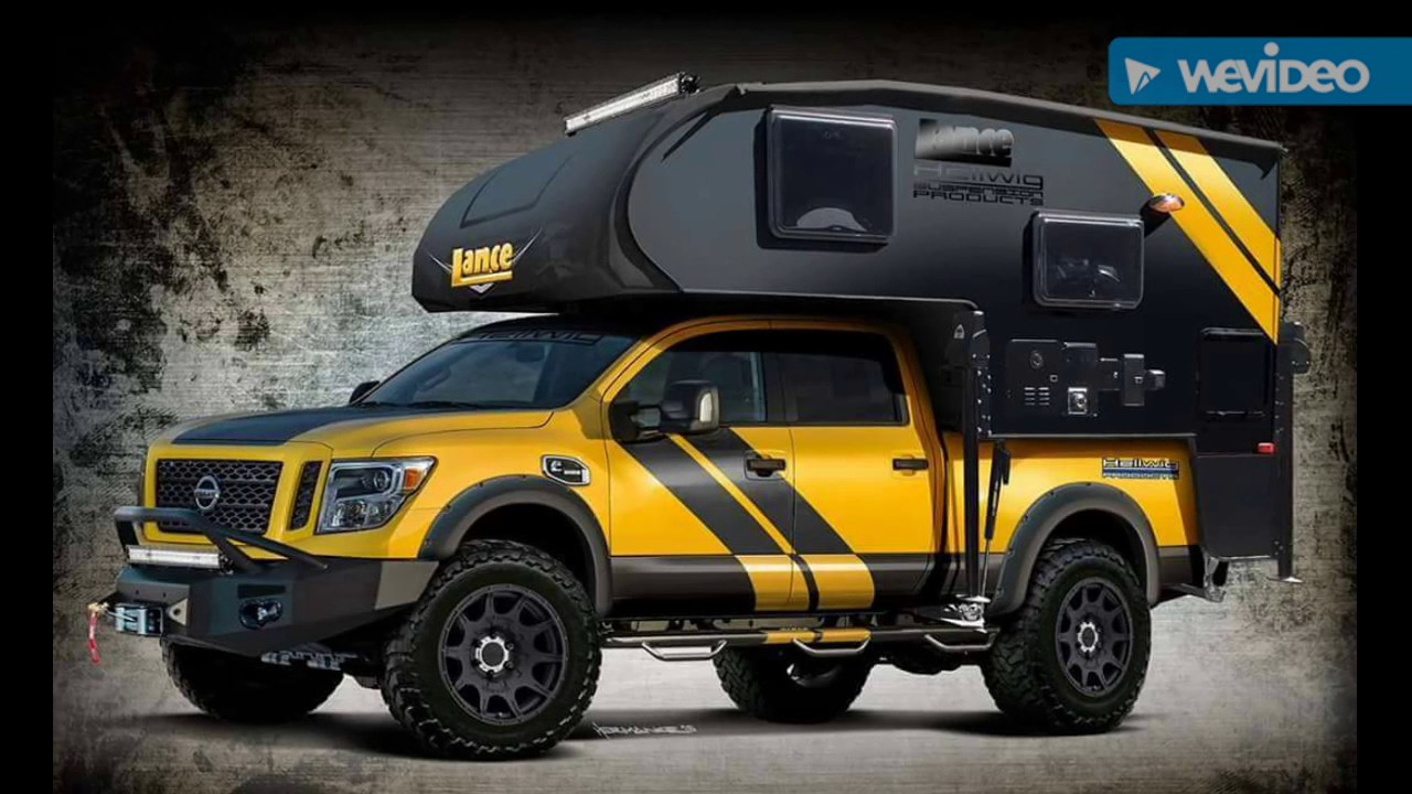 small resolution of pick up dodge nissan pickup with camper kit youtube