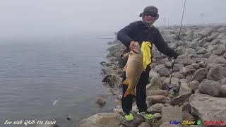 Fishing at waubay lake SD, Hmoob Mekas nuv ntses lom zem heev
