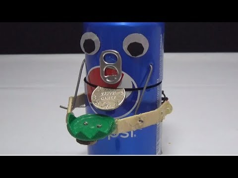 Unique Creation Robot getting Coins - Robot Bank - DIY from Pepsi