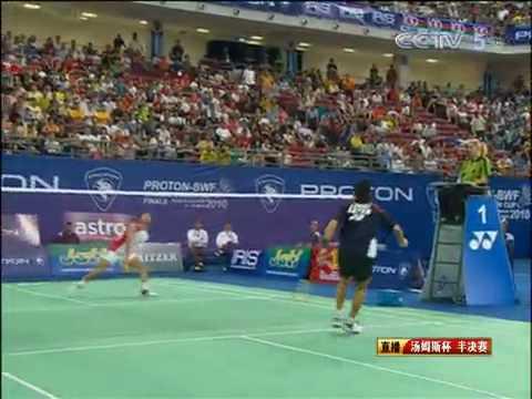 Thomas Cup 2010 Sho Sasaki vs Simon Santoso Mens Singles SemiFinal 1/13 from YouTube · Duration:  5 minutes