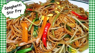 Chinese Vegetarian Spaghetti Stir Fry Recipe ~ Vegetable Lo Mein