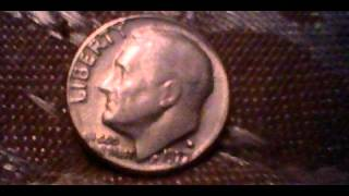 1977 dime misprint in god we trust