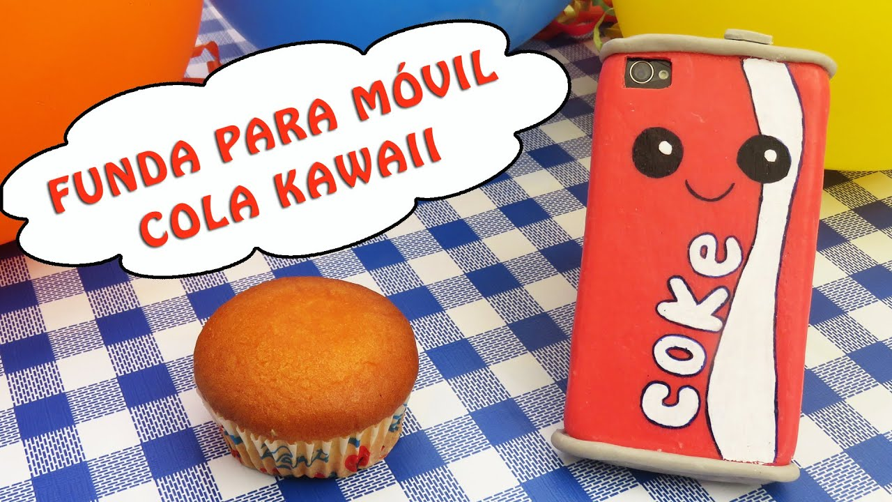 Funda para m vil cola kawaii youtube - Decorar funda movil ...