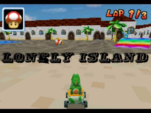 Mario Kart Ds Custom Track Lonely Island By Mkds1992 Youtube