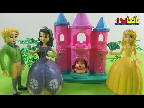 لعبة الاميرة صوفيا والكلب المسكين وزوجة أبوها الشريرة  ألعاب الشخصيات الكرتونية للأولاد والبنات