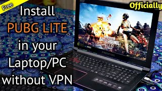 Gambar cover How to install PUBG PC LITE on your laptop/pc | Install PUBG LITE without VPN in India | PUBG LITE