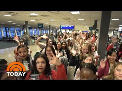 Maverick - All-women Flight crew flies 120 girls to NASA to inspire female aviators