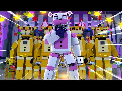 Attack of The Golden Freddy Clones! Minecraft FNAF Roleplay