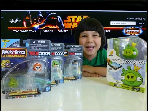 Angry Birds Star Wars II TELEPODS Series 2 - Teleport Yourself | Magic King Pig Review