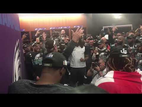Eagles' Doug Pederson's speech after Super Bowl