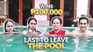 LAST TO LEAVE THE POOL WINS 100K! | IVANA ALAWI