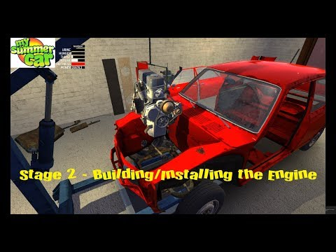 My Summer Car - Building The Satsuma - Engine Build/install 2/4 (includes Spanner Sizes)