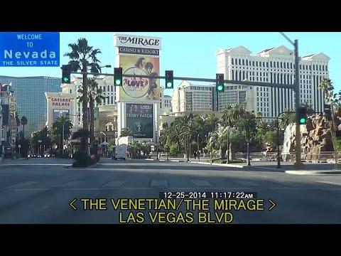 Downtown Las Vegas NV to Las Vegas Strip 2014 HD Day Time Lapse Drive Music