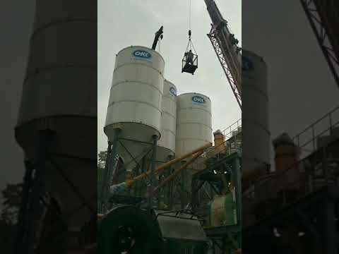 50T Bolted Cement Silo Installed in Malaysia