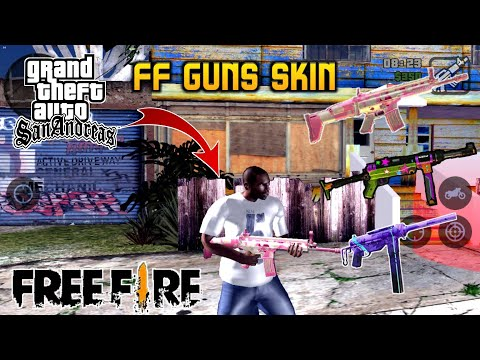 GTA San Andreas Garena Free Fire Weapons Skins Mod For Android