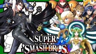 Bayonetta VS Palutena VS Peach VS Rosalina VS Zelda VS Samus V…