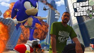 SONIC THE HEDGEHOG becomes a GIANT (GTA 5 Mods)