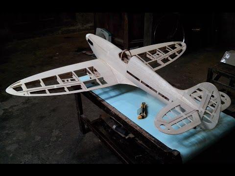 Scratch Build Spitfire mk ix Balsa Kit and Flight