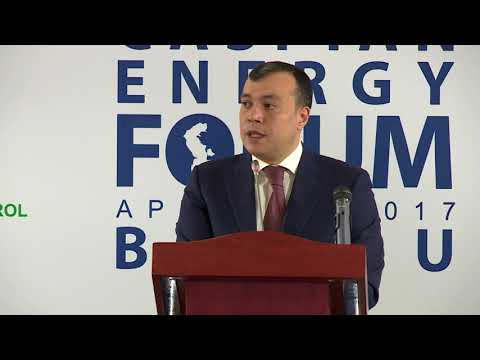 Sahil Babayev - 4-th Caspian Energy Forum - Baku 2017