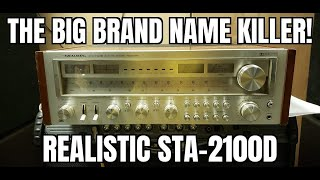 The big brand name killer.  This is a mini monster of a Receiver. Realistic STA-2100D