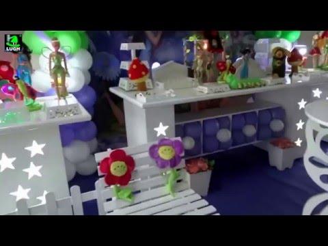 Tinker Bell (Sininho) -  Decoração em mesa provençal para festa de aniversário infantil