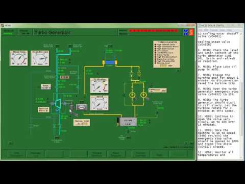 PENG1005 - Simulation - MC90V Steam Turbine Startup and Generator Synchronization
