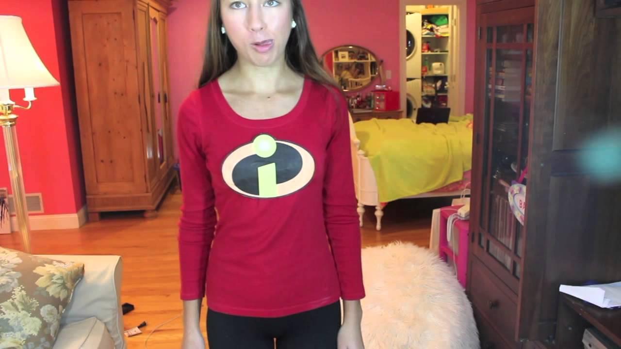 Last Minute  Incredible  DIY Holloween Costume The Incredibles! - YouTube  sc 1 st  YouTube & Last Minute